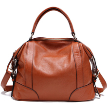 7 Colors NEW 100% Cow's Skin Women GENUINE LEATHER Handbag Calfskin HOBO Shoulder bag crossbody bags Fashion FOR girl Z011(China)