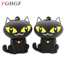 FGHGF pen drive cartoon black cat pendriver 8gb 16gb 32gb usb flash drive memory stick pendrive cartoon mini gift(China)