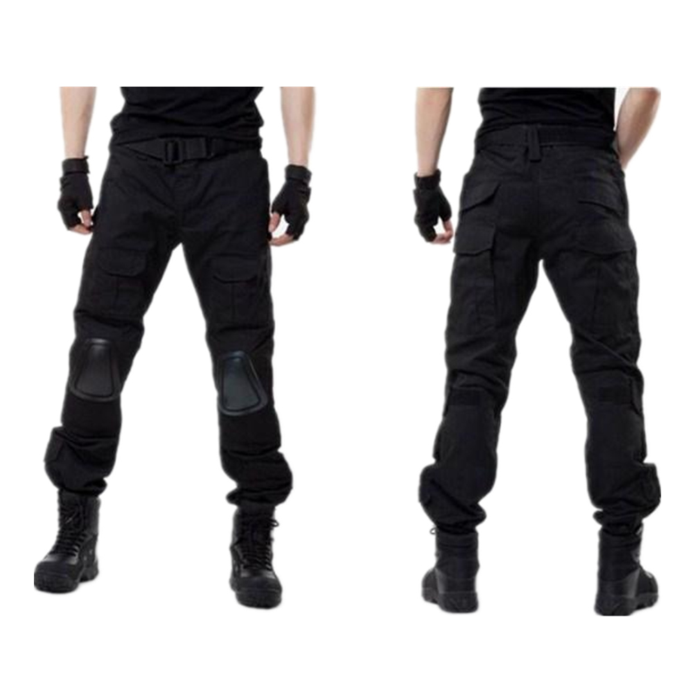 Cotton pants tactical pants with knee pads overalls son Army pants black ATFG ACU CP KK AT military pants<br>