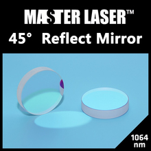 Dia 25mm Thickness 4mm YAG Laser Cutting Machine 45 Degree Reflect Mirror  Reflector Mirror