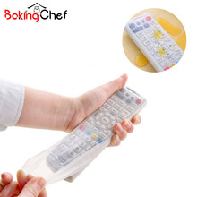 BAKINGCHEF Silicone TV Remote Control Dust Cover Storage Bag Protective Holder Organizer Home Item Gear Accessories Supplies Lot(China)