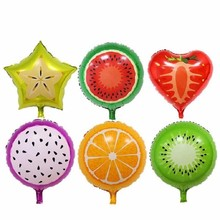 3pcs 18 inches Fruit Balloon Watermelon Strawberry Orange Helium Balloons Birthday Wedding Party Decorations Kids Inflatable Toy(China)