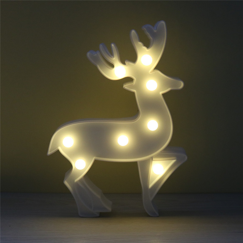 Lumiparty LED Reindeer NightLight Cordless Night Table Lamp Christmas Wall Marquee Sign 8LED Lights Home Decoration(China (Mainland))