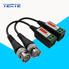 TEATE BNC Cable Cat5 for CCTV Video Twisted CCTV UTP Video Balun Passive Transceivers Max Distance 2000FT UTP Balun TE-G03CAB