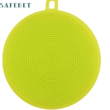 My House Antibacterial Silicone Cleaning Brush Pad Dish Fruit Scrubber Kitchen Clean Tool 2017 New Hot Sell 17Mar13
