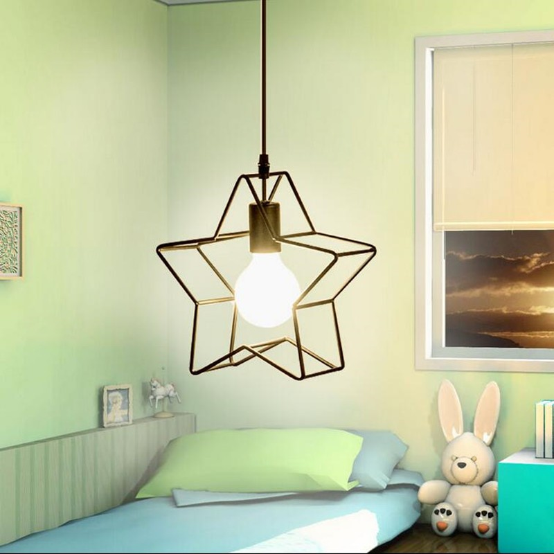 Vintage Iron Pendant Light Industrial Loft Retro Droplight Bar Cafe Bedroom  American Country Style Hanging Lamp WPL020<br>