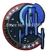 "3.5"" STAR TREK ""ENTERPRISE"" INSIGNIA SHOULDER PROP TV Movie Series applique iron on patch badge costume Uniform LOGO Wholesale(China)"