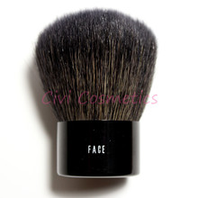 Brand Professional Makeup Face Single Goat Hair Brushes with leather bag(China)
