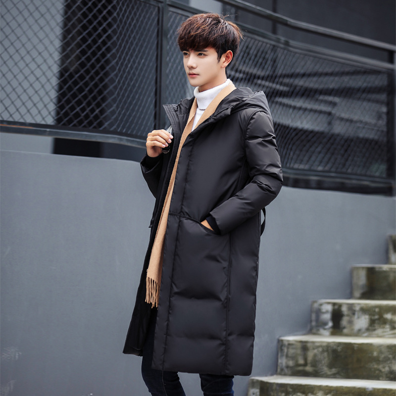 2018 Winter New White Duck Down Coats Men Slim Fit Long Winter Jacket Male Parka High Quality Brand Clothing