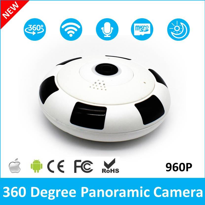 (1 Set ) Home Security Camera 360 Degree Fish Eye Lens IP Camera WiFi Baby Monitor WiFi Camera Two Way Voice Panoramic Camera<br>