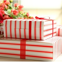 New 23*18*6.5cm 10 Pcs Red Paper Box As Cake Candy Chocolate Party Wedding Favors Gifts Christmas Valentines Gift Packaging