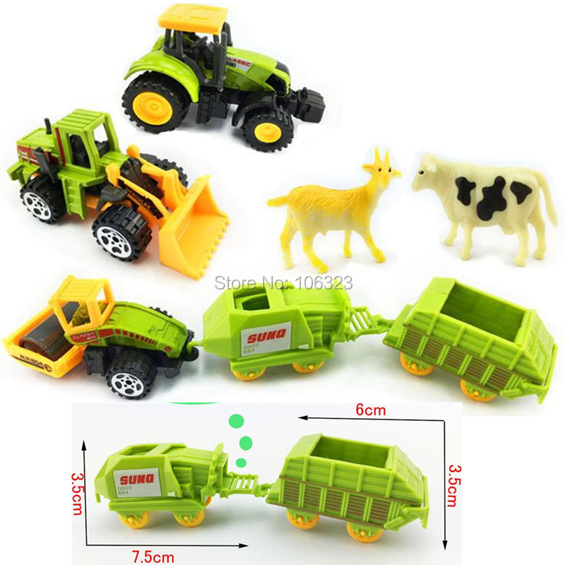 Diecast Simulation Car,Children Vehicle Model Toy Set 1:64 Farmer/City/Military/Ambulance/FireFighting Truck/Construction/Police(China)