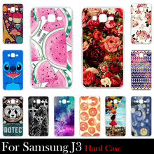 For Samsung Galaxy J3 (2016)  5.0 inch Case Hard Plastic Mobile Phone Cover DIY Color Paitn Cellphone Bag Shell  Shipping Free