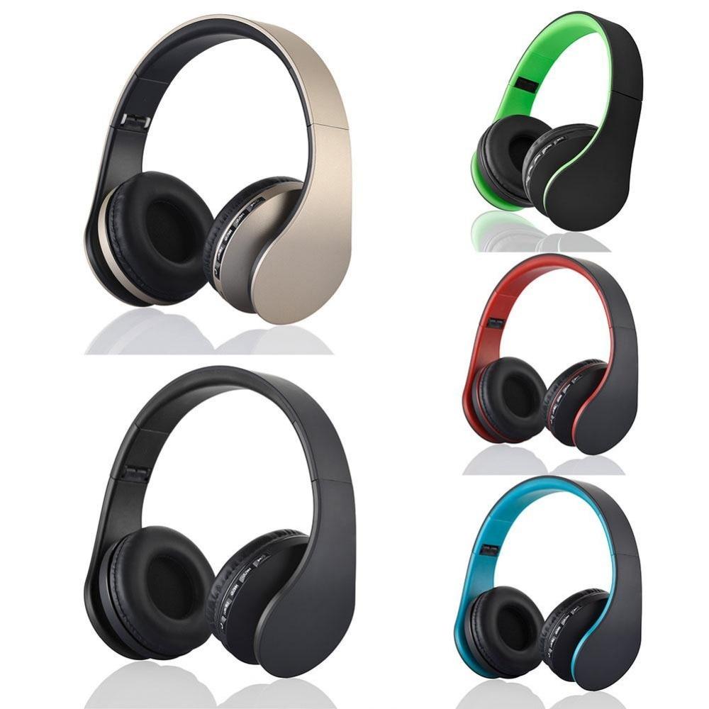 Bluetooth cordless Foldable Headset Stereo Headphone Earphones BT Casque audio w/Micro SD card solt FM radio For  Samsung Galaxy<br><br>Aliexpress