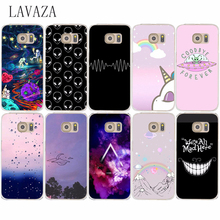 563E Hard Transparent Case Cover for Samsung Galaxy S6 S7 Edge S8 Plus S2 S3 S4 S5 & Mini case Stars And Planets Space Doodle