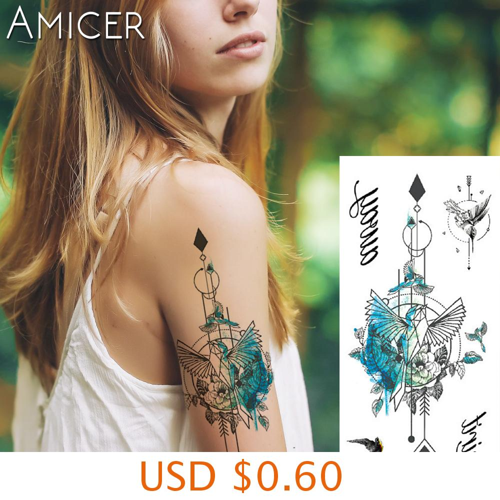 sexy romantic dark rose flowers flash fenna tattoos fake Waterproof temporary tattoos stickers body art Tattoo sleeve 7