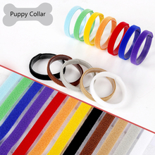 Cute 12 Colors / Pack Pet ID Collars Nylon Adjustable Length Solid Dogs Collar for Small dog Puppy and Kitten Distinguish pets(China)
