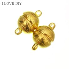 Wholesale Price 10 Sets 8mm/10mm Round Ball Magnetic Clasps DIY For Leather Bracelets Jewelry Making