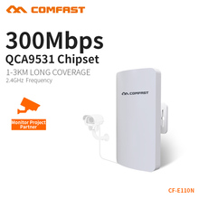 COMFAST Wifi Bridge 2.4ghz 300mbps Outdoor CPE Wifi Router Repeater AP For Ip Camera Project 1-2km Long Range Receiver Extender(China)