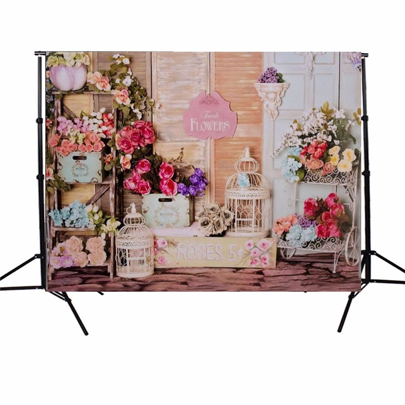 7X5FT Vinyl photography background Rose Shop Photographic Backdrop For Studio Photo Prop cloth 2.1x1.5m<br><br>Aliexpress