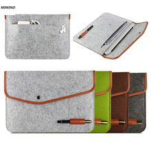 "High Quality Notebook Laptop Wool Felt Sleeve Bag for Macbook Air 11"" 13"" 15""Protective Case Computer Bag Laptop Bag Liner Bag(China)"