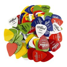 100 Smooth ABS Guitar Picks 0.58-0.81mm Mix Alice 100P(China)