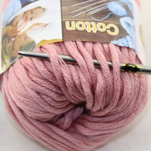 LOT Color optional 1 BallsX50g Special Thick Worsted 100% Cotton Knitting Yarn 422-07(China)
