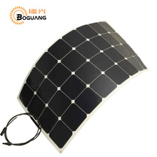 Solarparts 1pcs 100W 12V PV flexible solar panel cell panel module fishing boat battery charger pump light home camper RV phone(China)