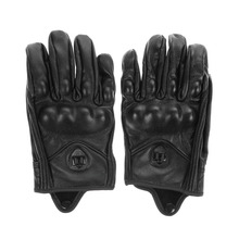 1 Pair Leather Full Finger Motorcycle Gloves Waterproof  Bicycle Cycling Motocross Golves M L XL Short Leather Gloves Hot Sell