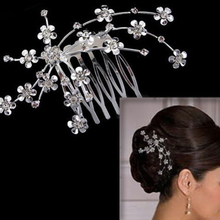 2017 High Quality Hot Fashion Comb Inserted Clip Headband Prom Wedding Bridal Jewelry(China)