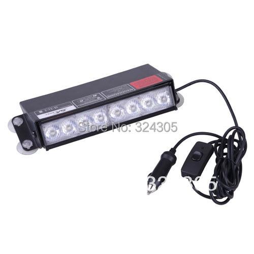Wholesale High Power 8 LED Dash Strobe Fog Flash Emergency Warning Lights Blue and Red<br><br>Aliexpress