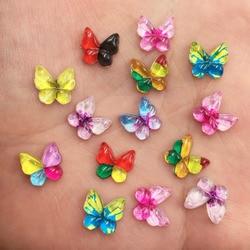 80 шт., разноцветные кристаллы-бабочки для украшения скрапбукинга, 10 мм