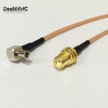 "RF SMA Switch TS9 Pigtail Cable SMA Female Bulkhead Connector Switch TS9 Male Right Angle Connector RG316 Cable 15cm 6""(China)"