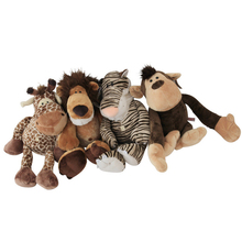 J239 Kawaii!! New Arrival 15CM Animal Cartoon Lion Monkey Tiger Deer Elephant Stuffed Doll Plush Toys Wholesale(China)