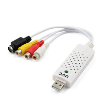Hot Adapter to DVD Video Capture USB 2.0 Portable Easycap Audio Video Capture Card For Win7 / 8 / XP / Vista(China)