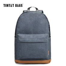 TINYAT Men's 15 inch laptop backpack computer male school backpacks rucksacks leisure for teenage mochila Escolar Gray Bag 1101(China)
