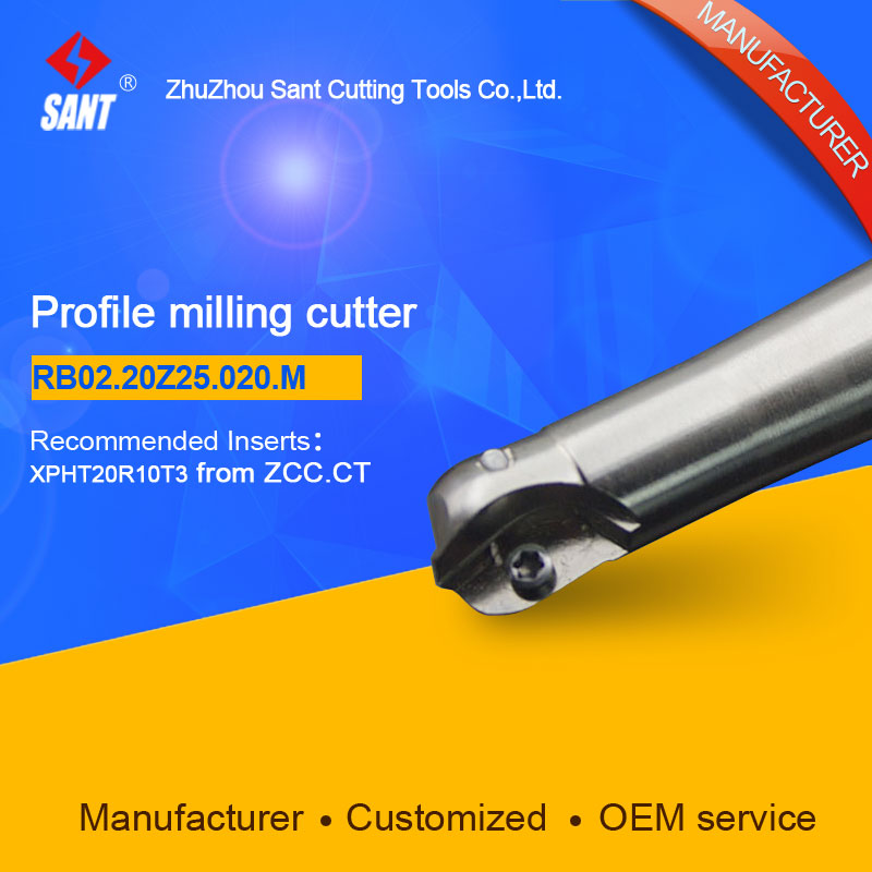 Suggested ZCCCT BMR03-020-G25-M  Indexable Milling cutter SANT RB02.20Z25.020.M with XPHT20R10T3 carbide insert for ZCC<br><br>Aliexpress