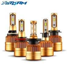 Car Headlight H7 Led H4 Bulb H1 H3 H8 H11 9005 HB3 9006 HB4 H27 with Philips Chips 50W 8000LM 6000K 12V Led Auto Lamp Fog Lights