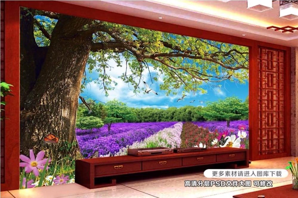 3d photo murals customized 3d wallpaper Tree flowers dream 3d mural wallpaper for bedroom walls living room wallpaper<br><br>Aliexpress
