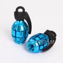 Blue Motorcycle Tire Wheel Grenade Valve Cap For Arctic Harley Davidson Victory Kawasaki Honda Yamaha Suzuki Ducati Can-Am ...(China)