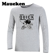 Men Autumn Winter Los Angeles #32 Jonathan Quick T-Shirt Long Sleeve Tees T SHIRT Men's Goalkeeper W1207001(China)