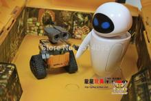 2pcs/set Wall-E Robot Wall E & EVE PVC Action Figure Collection Model Toys Dolls 6cm OF094