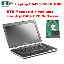 I5/4G Laptop E6420 with auto diagnostic scanner MB STAR C4 profesional Software(DTS/vediamo/DAS/EPC/xentry)HDD for Mercedes Benz
