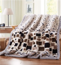 2016 Home textile Thickening Fleece Blanket Winter Soft Flano Flannel bed Sheet Brand for air sofa bedding travel Chirstmas Gift(China)