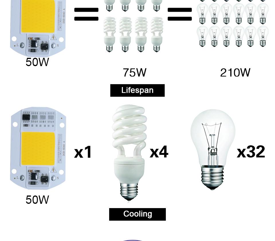 led cob lamp bulb white warm white 220v 110V with smart ic driver (6)