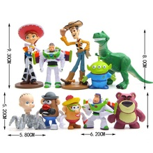 10pcs/set Cartoon Toy Story WOODY Buzz Lightyear Jessie Rex Lotso Cute Dolls PVC Figure Model Toys Birthday Gift