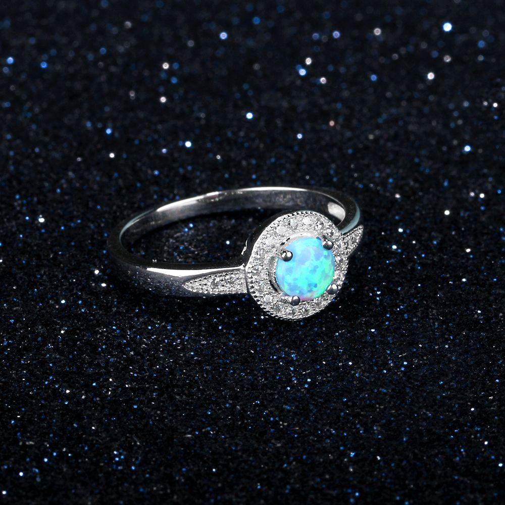 خاتم فضة بحجر جميل 6