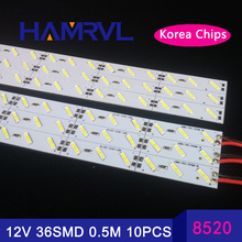 Buy 10pcs*50cm 12v led rigid hard strip aluminium bar lights Super bright Korea 8520SMD36 SMD 18W/M LED Hard Rigid LED Strip for $14.88 in AliExpress store