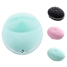 Skin Care Facial Deep Cleaning Waterproof Electric Facial Pore Cleaner Massage Brush Silicone Face Cleansing Brush Hot