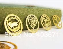 New 7 pcs / lot Creative lace fashion designs Metal Bookmark Book marks(China)